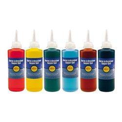 Lot de 6 flacons 200 ml encre à dessiner gel Pichon couleurs assorties