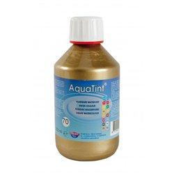"""Flacon 250ml encre à dessiner à base d'eau """"aquatint"""" - or"""