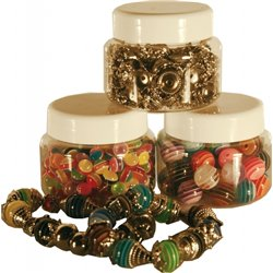 Ensemble 3 pots de 100 gr de perles bijoux assortis