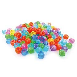 Sachet 1000 perles plastique gros trous ø 9 mm