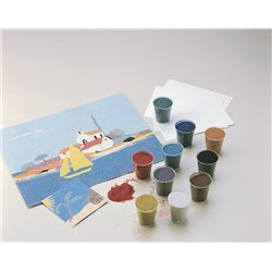 Boîte de 12 flacons de 45g sable coloré