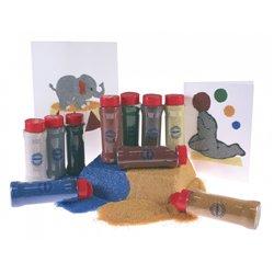 Ensemble de 10 flacons 275 g sable grain moyen 10 couleurs assorties