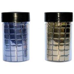 Pot 250 g mosaïque verre - argent