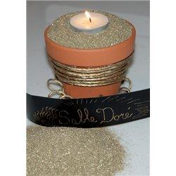 Pot de 100 g de sable coloré - or