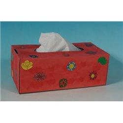 Boite de mouchoirs en carton blanc à décorer (Lot de 10)