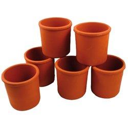Pot à crayons en terre Ø 85 mm (Lot de 6)