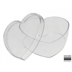 Boite plastique cœur à décorer