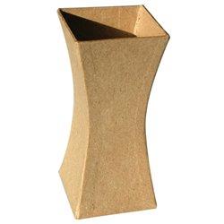 Vase en carton base carrée 123x56x56 mm