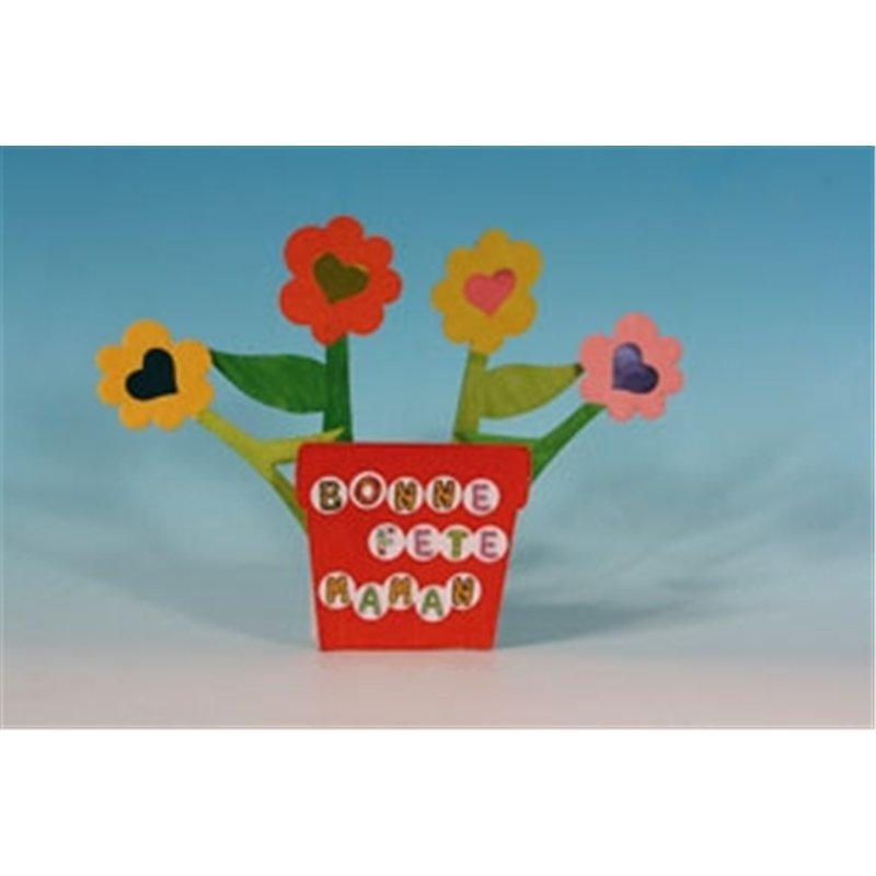 Pot de fleurs en carton blanc à décorer (Lot de 10)