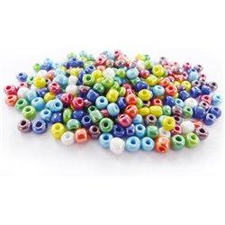Bocal 500 grammes perles de rocaille couleurs métallisées