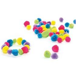 Sachet 200 perles pompons doux