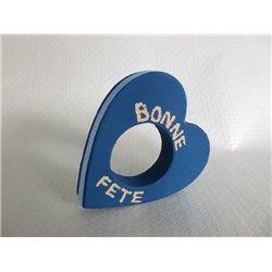 Rond de serviette forme cœur en carton 110 mm (Lot de 6)