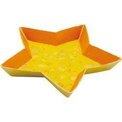 Coupelle étoile carton à décorer 255 x 255 x 30 mm (Lot de 5)