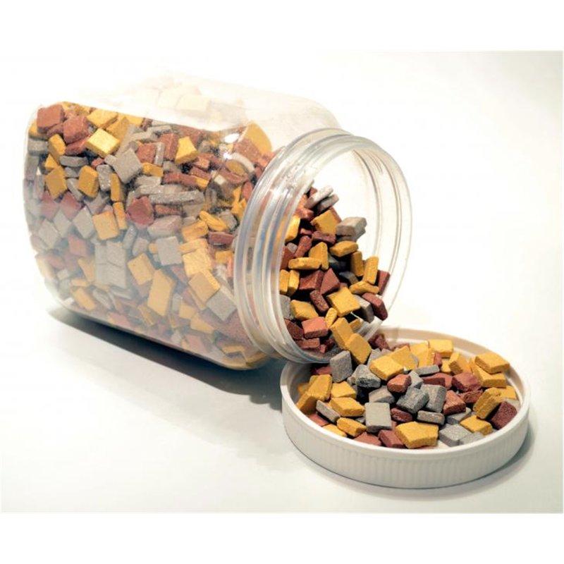 Pot de 1kg mosaïques antiques taille 1 cm couleurs métallisées assorties