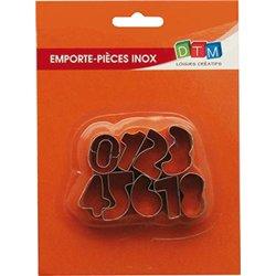 Lot 9 emporte pièces chiffres 3 cm