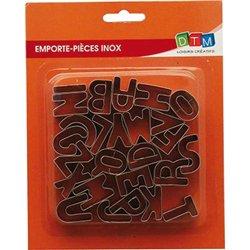 Lot 26 emporte pièces lettres 2.5 cm