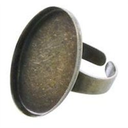 Lot de 15 bagues creuses en bronze à décorer