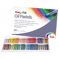 Boîte 50 pastels huile Pentel diam: 8 mm
