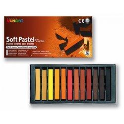Boîte 12 pastels tendres Mungyo sanguine 66 mm