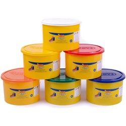Assortiment de 6 pots de 460 g de pâte à jouer Jovi