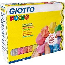 Lot 12 pains 450 g pâte à modeler teintes assorties. giotto pongo