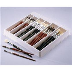 Boîte de rangement alvéolée pour pinceaux pichon