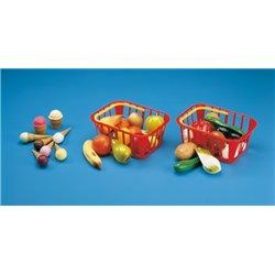 Panier plastique de 12 légumes assortis