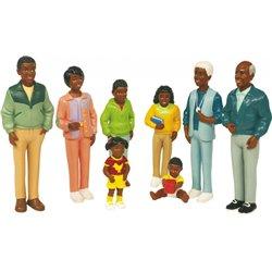 Figurines de la famille africaine