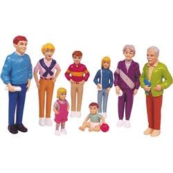 Figurines de la famille européenne