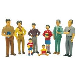 Figurines de la famille asiatique