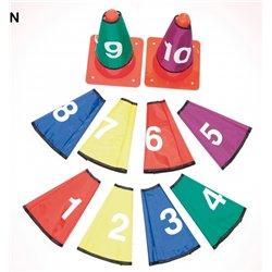 Set 10 cols de cône numérotés de 1 à 10