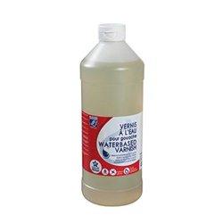 Flacon 1 litre de vernis à l'eau LEFRANC & BOURGEOIS.