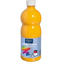 Flacon 500 ml, couleurs acryliques glossy lefranc & bourgeois - jaune d'or