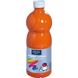 Flacon 500 ml, couleurs acryliques glossy lefranc & bourgeois - orange