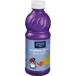 Flacon 500 ml, couleurs acryliques glossy lefranc & bourgeois - violet