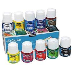 Boîte 10 flacons sétacolor assortis, opaque réf. 294 pébéo
