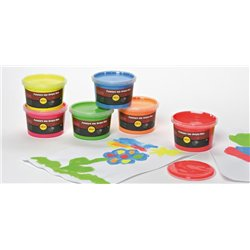 Assortiment de 6 pots 225 ml peinture aux doigts fluo sélection PICHON
