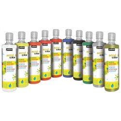 Assortiment 10 flacons 500 ml gouache acrylique Acryl'color Pébéo
