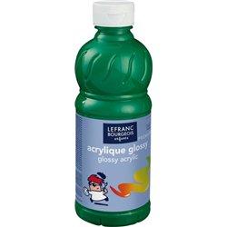 Flacon 500 ml, couleurs acryliques glossy lefranc & bourgeois - vert brillant