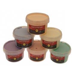 Assortiment de 6 pots de 250 ml de peinture aux doigts pastel sélection Pichon