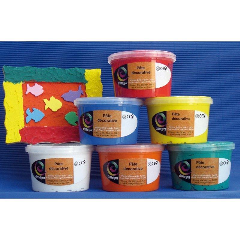 Assortiment 6 pots 350 g peinture structurée Omega