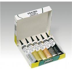 Boîte 6 tubes cerne relief 6 x 20 ml Pébéo