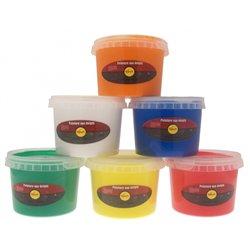 Assortiment de 6 pots 500 ml peinture aux doigts sélection pichon