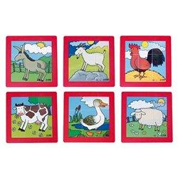 Puzzles les animaux de la ferme