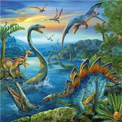 Puzzles 3 x 49 pièces fascination des dinosaures