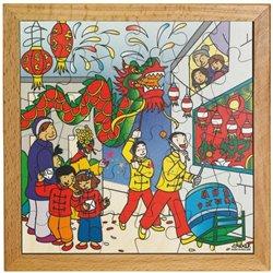 Puzzle à thème la fête du nouvel an chinois