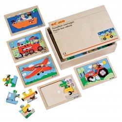 Coffret de 10 puzzles thème transport