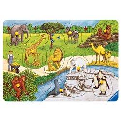 Puzzle 1er âge animaux du zoo