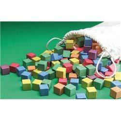 Set de 150 cubes en bois recyclé