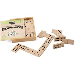 Coffret 28 grands dominos en bois